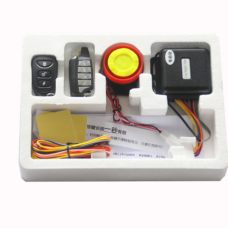 Motorcycle two-way alarm
